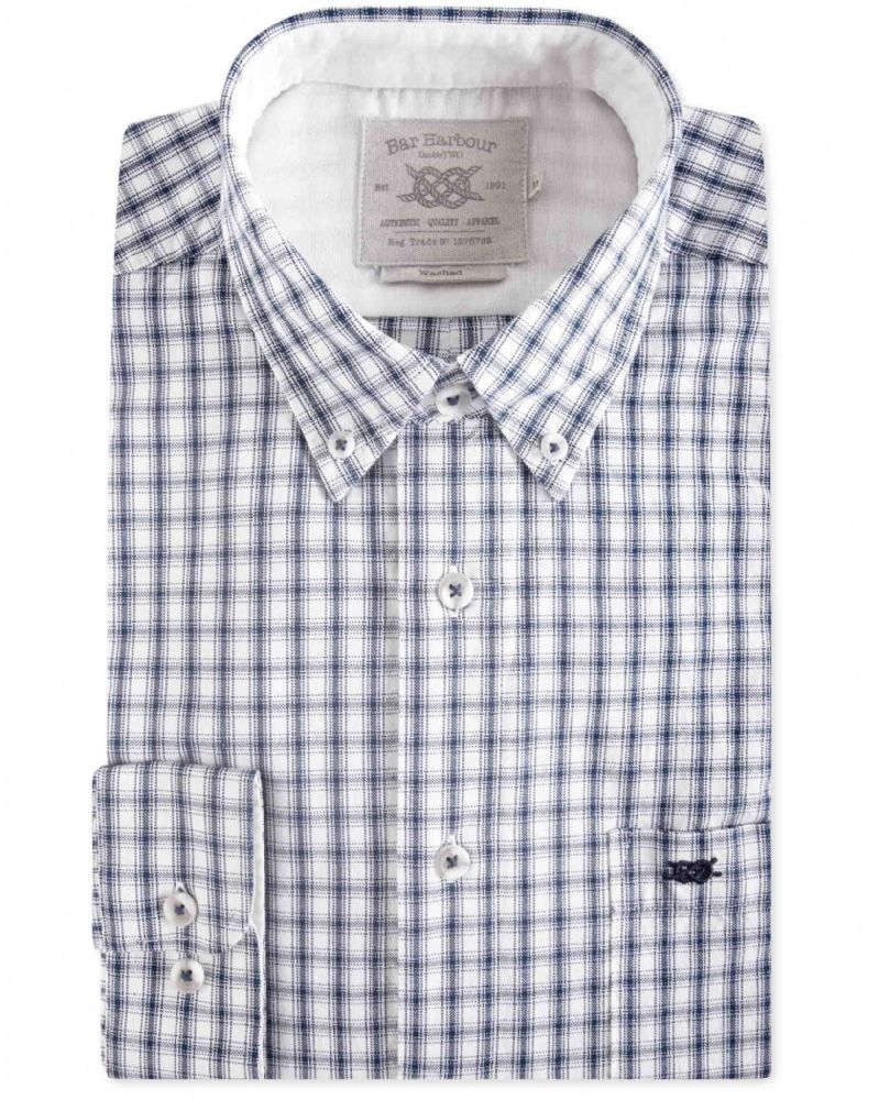 BAR HARBOUR  EDDIE CASUAL CHECK SHIRT - INK